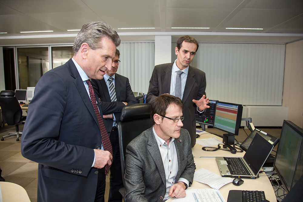 European Commissioner Oettinger Visits Coreso Coreso